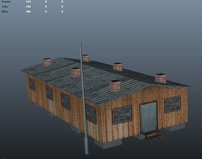 German Barracks from World War 2 3D asset