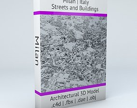 Milan Streets and Buildings 3D model