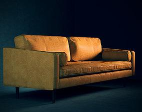 Leather Mid-Century Modern Sofa 3D model