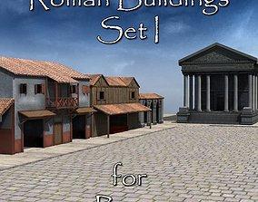 3D model Roman Buildings Set I for Poser
