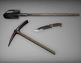 3D model Medieval tools