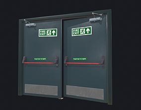 3D model Industrial metal door