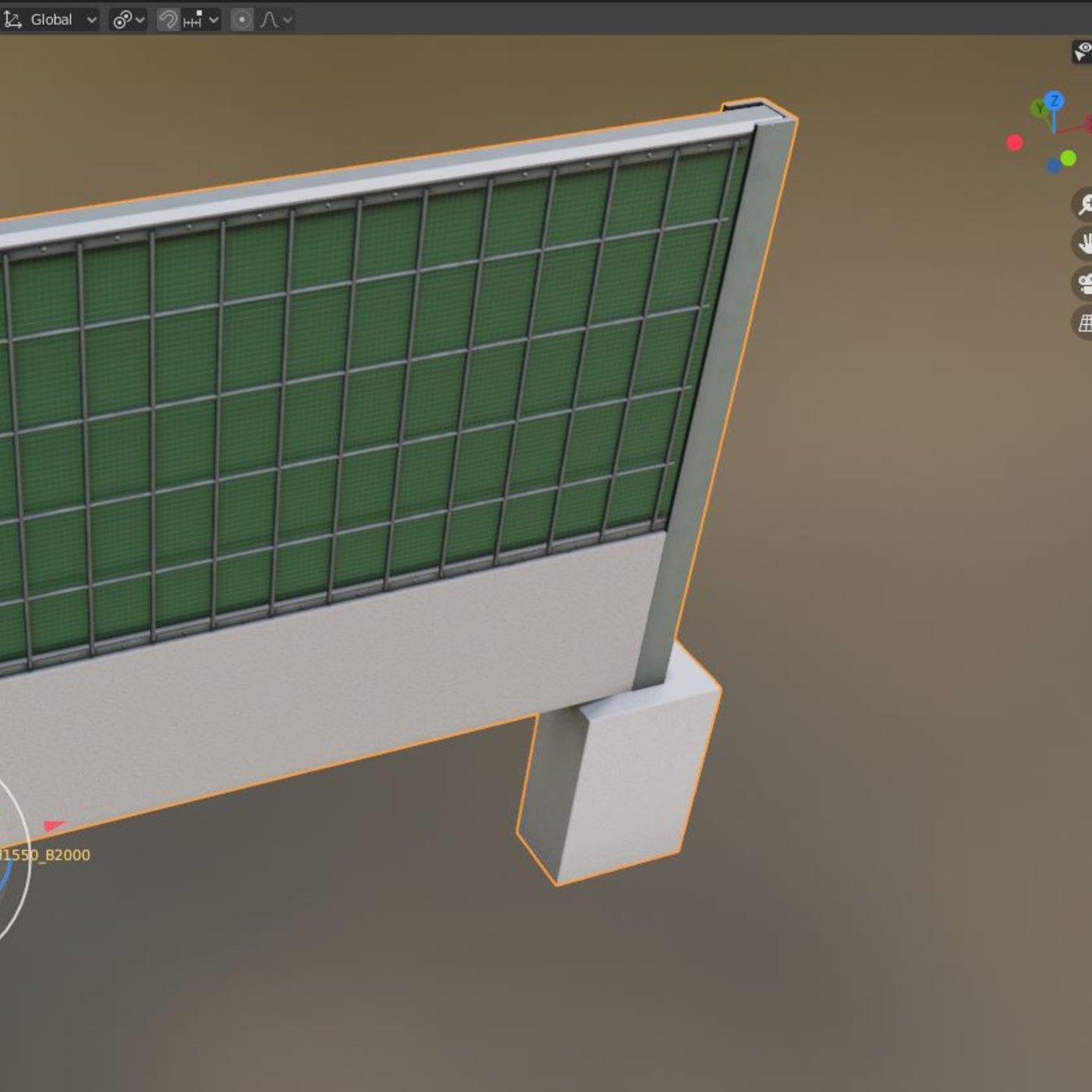 Modular Noise Barriers 2 (Low-Poly)