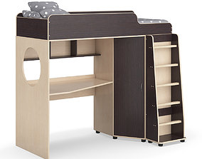 Legenda K04 and LP04 childrens modular bed 3D