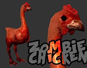 Zombie Chicken 3D model