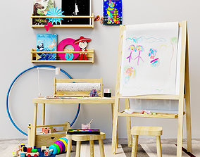 3D model Childrens decor easel Ikea set