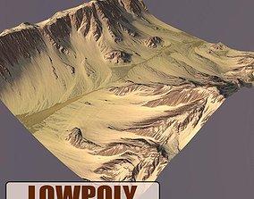 3D model low-poly landscape Lowpoly Mountain