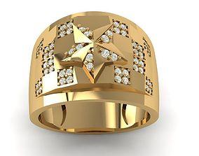 22 Men Ring Korea Style 3D printable model ring