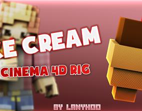 Minecraft ice cream rig 3D print model