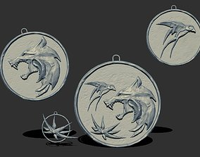 Witcher medallion 3D printable model sculpture