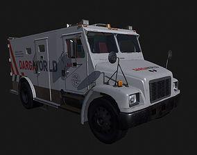 3D asset Armored Bank Truck