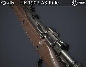 3D asset M1903 A3 Rifle