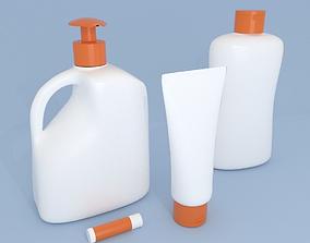 Bottles and Cream Dispensers 3D