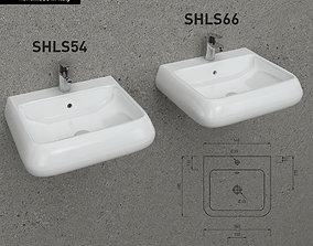 3D model Cielo Shui SHLS54 66 washbasin