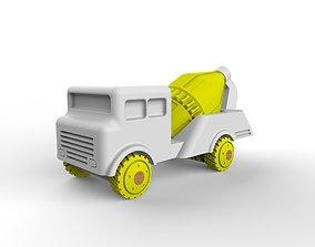 Toy cement truck 3D print model