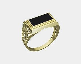 Man ring 3D print model rings retro
