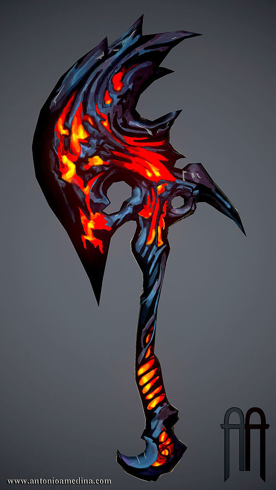 Hand Painted Game Axe