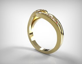 3D print model Jewelry Golden Ring Ribbon Top Detail
