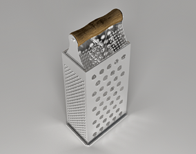 Steel Cheese Grater 3D