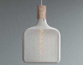 3D printable model FLAT CUBE HONEYCOMB MESH LAMP