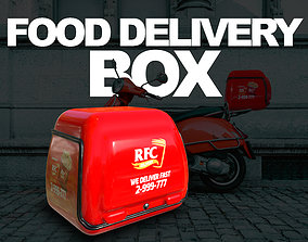 Food Delivery Box - Game Ready 3D model