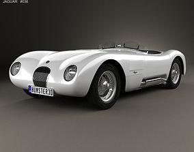 3D model Jaguar C-Type 1951