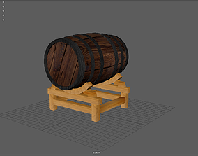 Barrel With stand 3D asset