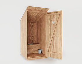 Outhouse 3D model PBR
