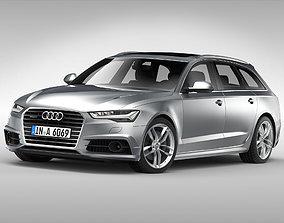 sportscar Audi A6 Avant 2017 3D