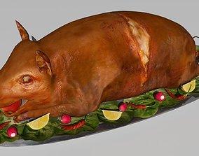 3D model pig roast