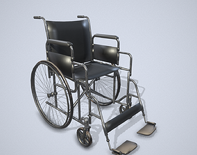 Wheelchair 3D model realtime PBR
