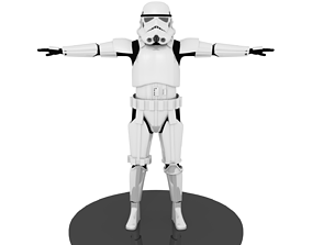 Star Wars Rogue One-Solo Stormtrooper Armor 3D realtime 1