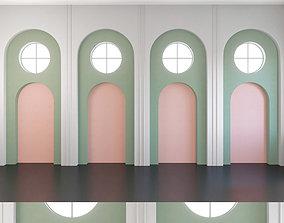 Wall Panel Set 140 3D model