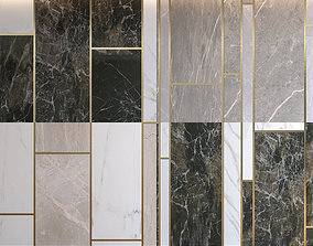 3D Marble Panel with Parquet Collection