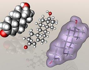 Nandrolone molecule 3D model