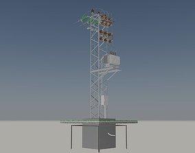 Tower transformer station 3D model