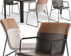 3D Ditte chairs Aurelio table