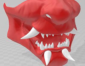 Samurai demon mask 3D printable model