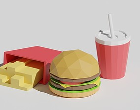 3D model Low Poly Fast Food