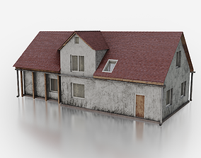 Old Village House 02 Game Ready 3D model