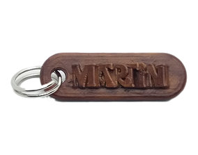 MARTIN Personalized keychain embossed 3D print model