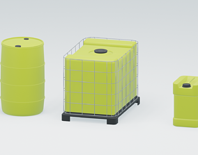 water tanks canister 3D asset