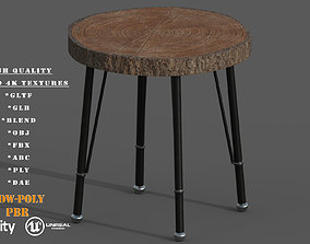 game-ready Wooden Coffe Table Low-Poly PBR Game Ready 3D