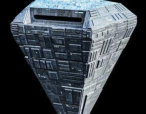 3D asset Pentagon Space Station Spaceship Spacecraft