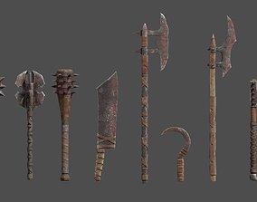 3D asset Orc Weapons