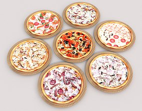 7 Pizza pack 3D asset