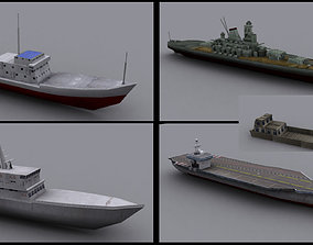 Military BattlesShip 3D asset realtime