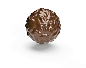 Realistic 3d Chocolate Ball Design game-ready