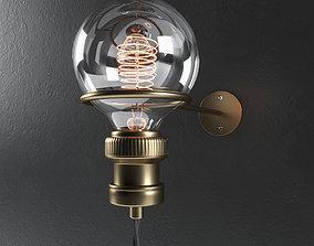 Minimalist Wall Light 3D