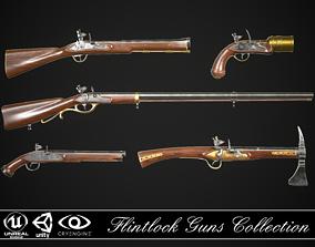 3D Flintlock Guns Collection